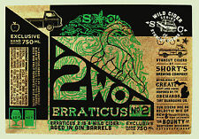 Short's Brewing Co 2WO - ERRATICUS NO. 2 beer label MI 650ml Wild Cider Series