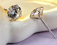 5mm .925 Sterling Silver Square Round CZ Cubic Zirconia Studs Earrings Box H11