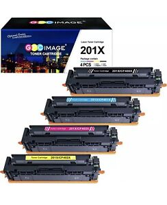 FULL SET HP 201X CF400X CF401X CF402X CF403X M252 M274N M277 CARTRIDGES NON-OEM