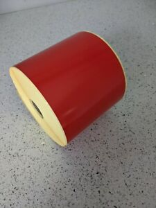 """101.6 mm x 152.4mm Red Direct Thermal 500 labels per roll. 25mm core. 4"""" x 6"""""""