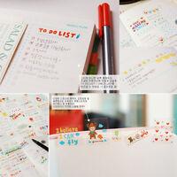 6 Sheets Cute DIY Word Expression Diary Album Sticker Calendar Card Scrapbooking