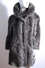 Kunstpelz Mantel Fake Fur Jacke Grau Vicos Italy Vitagliano Vintage Fell 42 Faux