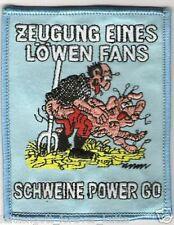 "Anti 1860 Aufnäher ""Schweinepo.."" Kutte Weste Fan Patch Block Kurve + neu +"