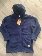 NORTH FACE GIRLS CAMPSHIRE LONG HOODY, MONTAGE BLUE, NWT, XL (18) WOMENS SMALL