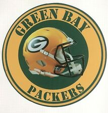 "Green Bay Packers NFL 7"" Round Metal Tacker Sign - New"