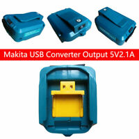 Dual USB Port Phone Charger Battery Adapter For Makita 18V 14.4V BL1830/1430 NEW
