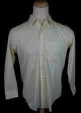 Vtg 60s 70's Fruit of the Loom Button Dress Shirt 16 32 Large Geek Nerd Pocket