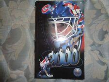 1999-00 MONTREAL CANADIENS MEDIA GUIDE YEARBOOK 2000 NHL Hockey Program Book AD