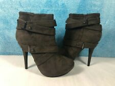 Women's Brown High Heel Zipper Ankle Boots - Size 7.5 Brand New w/out Box