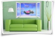 3D Fenster Wandbild Wandtattoo Aufkleber Wellness Wasserlilie Wohnzimmer Deko
