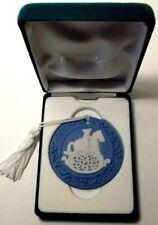 Wedgwood 1995 Annual Ornament - Rocking Horse - Blue Jasperware