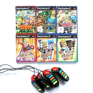 Playstation 2 BUZZ Spiele für PS2 I Auswahl Buzzer Jungle Party Monsterspaß Quiz