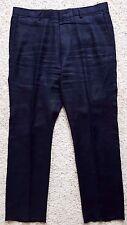 J. Crew BLUE Linen PANTS 35 31 Navy FLAT Front MENS Size 91031 SZ Pant TROUSER**