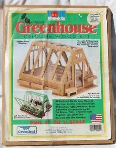 NEW - HOMEKITS Greenleaf Wood Miniature Greenhouse DOLLHOUSE KIT - SHIP FREE