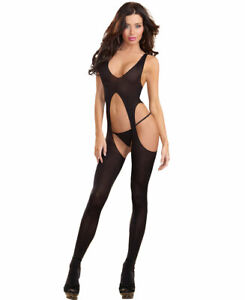 Sheer Suspender Tank Bodystocking - Dreamgirl 0031