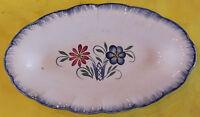 Ancien Petit plat Foie Gras caviar,Digoin décoration Floral bleuet Vintage 1950
