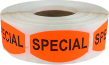 Special Grocery Market Stickers, 0.75 x 1.375 Inches, 500 Labels on a Roll