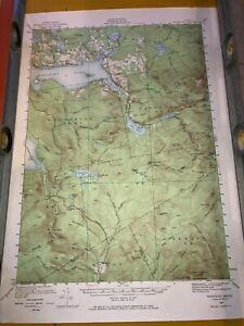 Vintage US Geological Survey Topography Map Rangeley Quadrangle Maine 1949