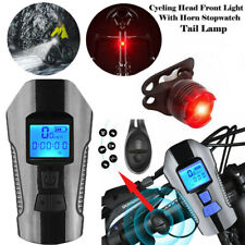 Rechargeable Bike Bicycle Cycling Head Front Rear Lights MTB Tail Lamp USB Set