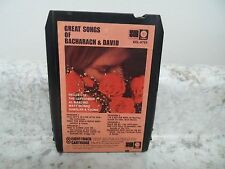 GREAT SONGS OF BACHARACH & DAVID  8 track  (071116BBY-A47)