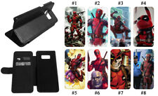 Deadpool 2 Thanos Leather Flip Phone Case for Samsung Galaxy S10 S9 J7 S8 Note10
