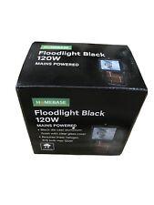 Homebase floodlight black 120w mains power home security garden work light new