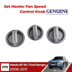 Heater Fan Control Knobs Fits Mazda BT-50 Fighter Ford Ranger 2006-2011 DRL