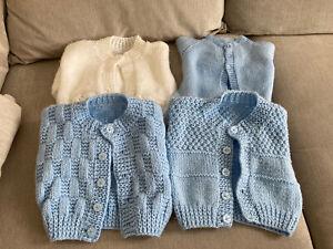 Baby Boys Hand Knitted Cardigan Bundle Size Newborn/0-3 Months
