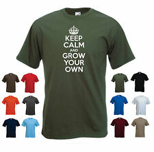 'Keep Calm and Grow Your Own' Funny Gardening Gardener Birthday Gift t-shirt