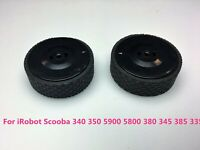 2PCS Wheels Tires for iRobot Scooba 340 350 5900 5800 345 385 335 Vacuum Cleaner