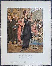 Pierre BRISSAUD Pochoir Art Déco ORIGINAL N°7 pl. 69  7/1914 GAZETTE DU BON TON