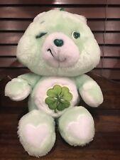 Kenner Good Luck Bear Care Bear Vintage 1983 green shamrock 4 leaf clover plush
