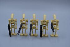LEGO 5 x Figur Minifig Star Wars sw001b Battle Droid tan beige mit Blaster
