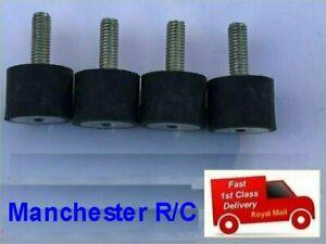 4 x RUBBER MOUNTS 15mm dia x 15mm long m/f M5 ecu fuel pump rc gas