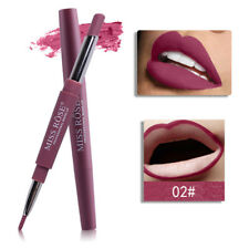 Coral red Waterproof Pencil Lipstick Pen Matte Lip Liner Long Lasting Makeup