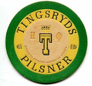 SWEDEN OLD BEER COASTER TINGSRYDS BRYGGERI