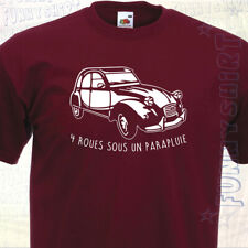 T-SHIRT 2 CV - Citroën 2CV  Deuche Deudeuche Voiture Retro de collection Vintage