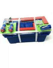 18-piece Kids Tool Set Create Learn with Blue Toolbox With Tools