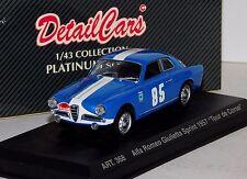 ALFA ROMEO GIULIETTA SPRINT #85 TOUR DE CORSE 1957 DETAIL CARS ART 368 1/43