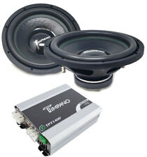 "2x 12"" Timpano Sub woofers 800 W Dual 4 ohm and 1400 W Amplifier TPT-1400.1"