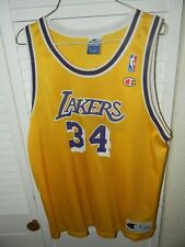 803f6a729 LOS ANGELES LAKERS SHAQUILLE ONEAL JERSEY 1990 S youth XL 18 20 BY CHAMPION