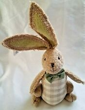 Ashland Table Top Easter Spring Bunny Cloth Rabbit w/Bowtie Stands Alone NEW