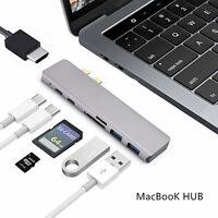 6/7in1 Per MacBook Pro HUB USB-C Tipo Dual-C SD CARD READER ADATTATORE HDMI IT