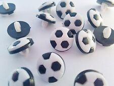 """10 Football Buttons 12mm (1/2"""") Boys Football Sewing Shank Buttons Sportswear"""