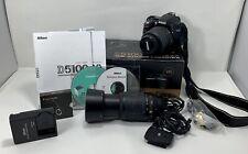 Nikon D D5100 16.2MP Digital SLR Camera Black AF-S DX VR G 18-55mm Custom Bundle