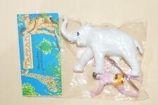 VERY RARE TOY MEXICAN FIGURE BOOTLEG TARZAN AND THE ELEPHANTS 60´S