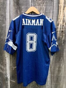 Vintage 80s Troy Aikman 8 Dallas Cowboys NFL Reebok Mesh Jersey Men's XL