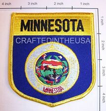 Minnesota State Flag Shield Embroidered Patch Sew Iron On Biker Vest Applique