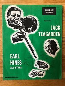 SIGNED Jack Teagarden Earl Hines All Stars UK Tour Jazz Program 1957