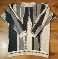 Alan Stuart Sz XL Cosby/Coogi Style Textured Sweater Hip Hop Biggie Notorious